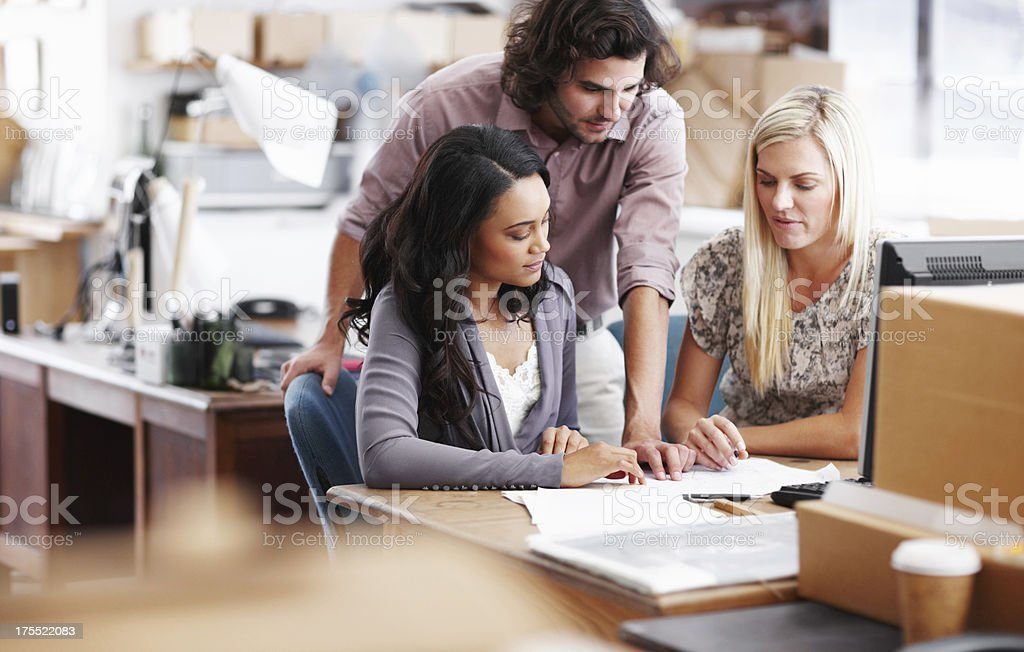 Working together towards a good design royalty-free stock photo