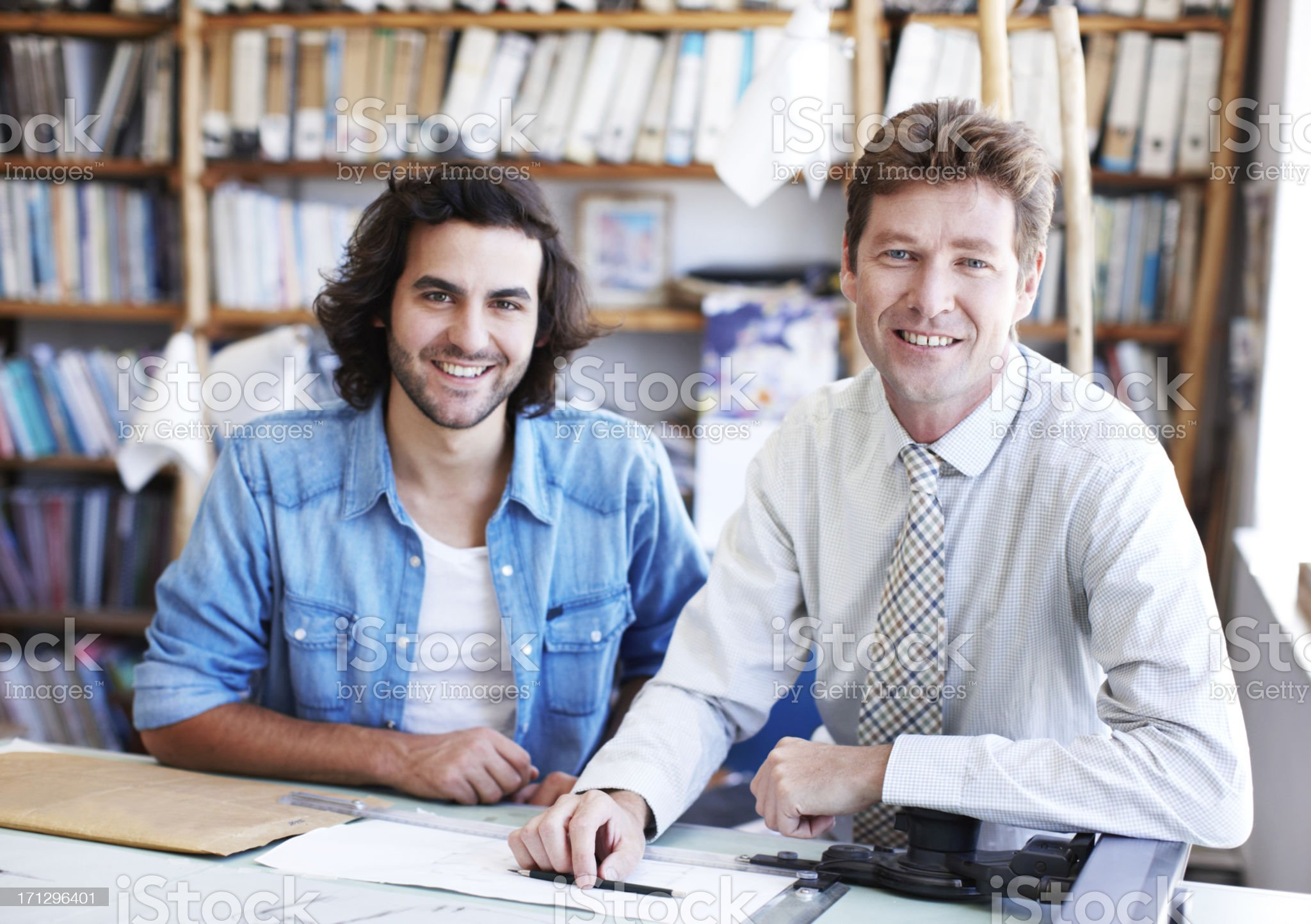Working together with a positive attitude royalty-free stock photo