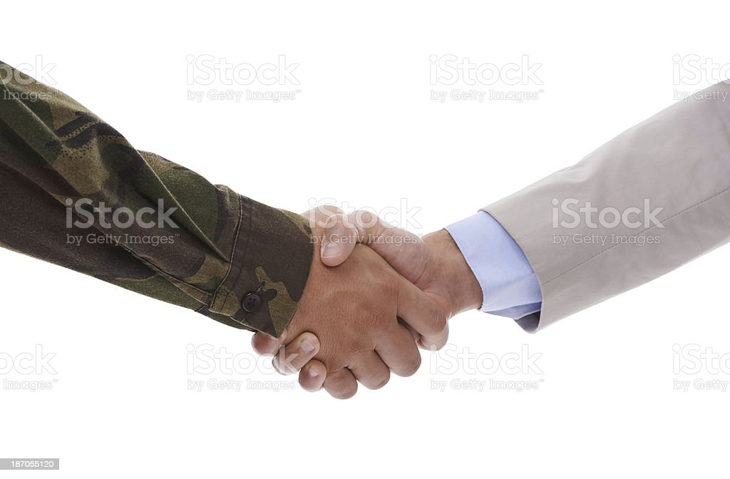 Working together with the government stock photo