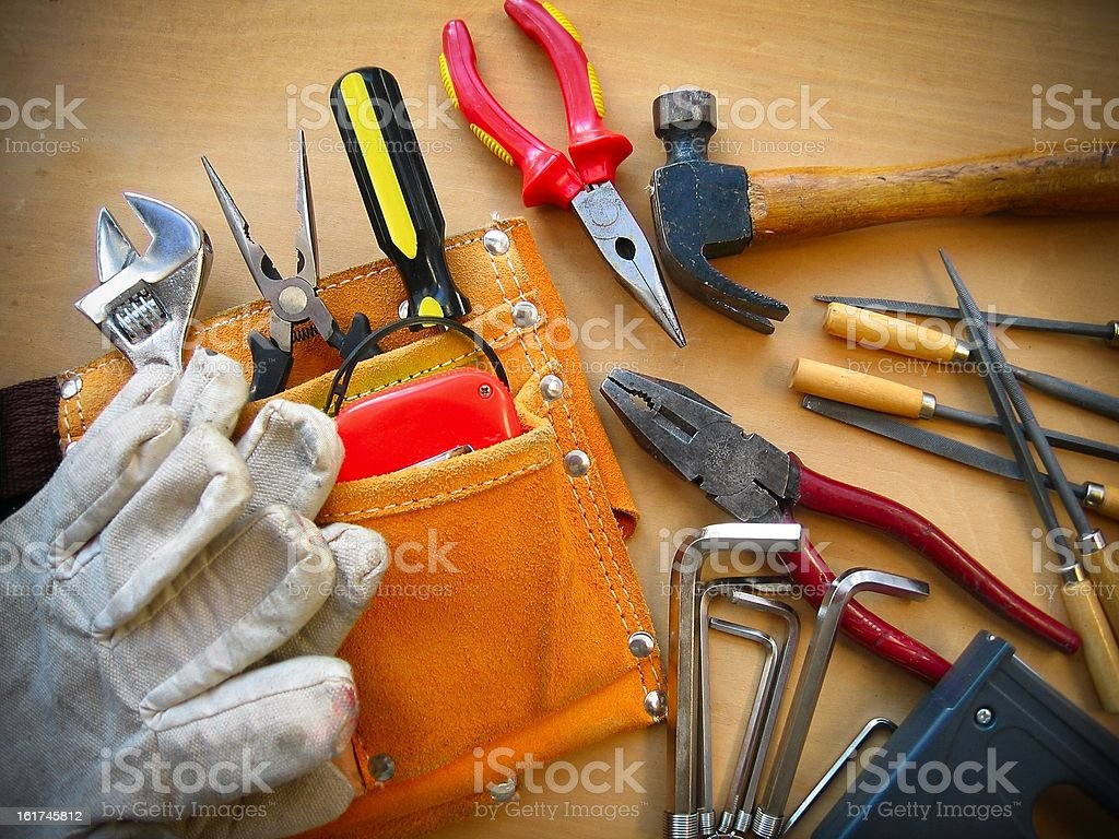 Working Tools Background royalty-free stock photo
