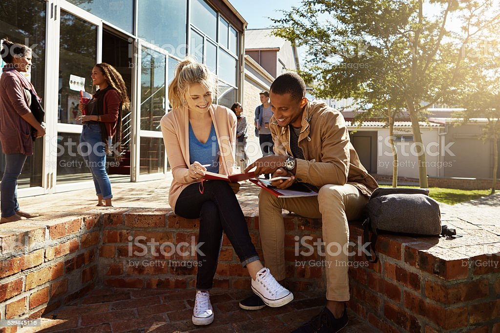 Working towards a bright future stock photo