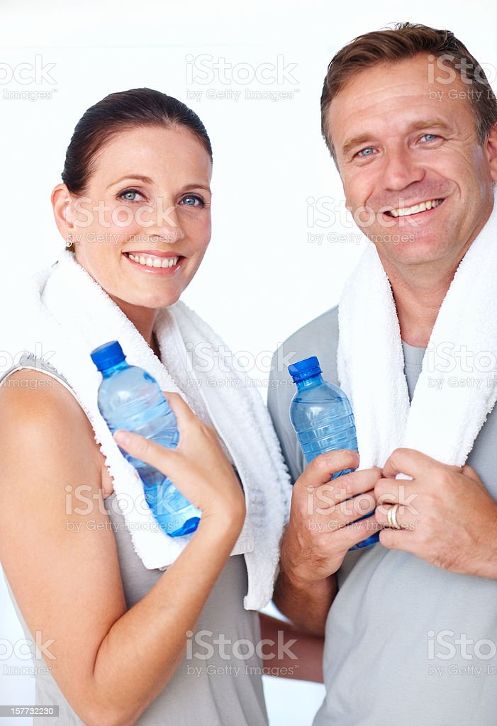 Working towards a healthy lifestyle together royalty-free stock photo