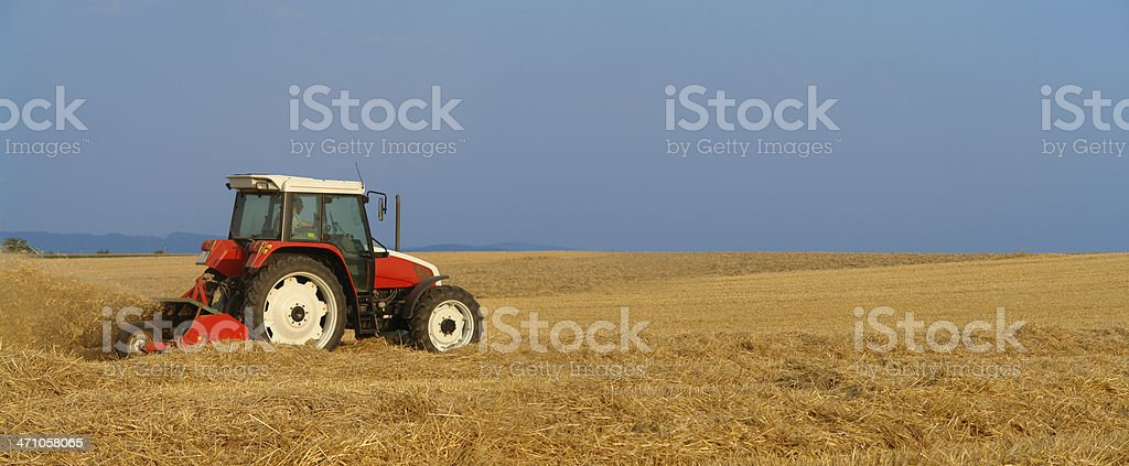Working Tractor royalty-free stock photo