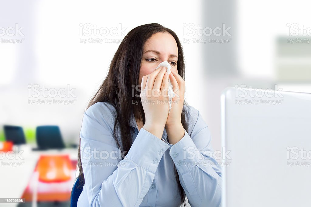 working with a great cold stock photo