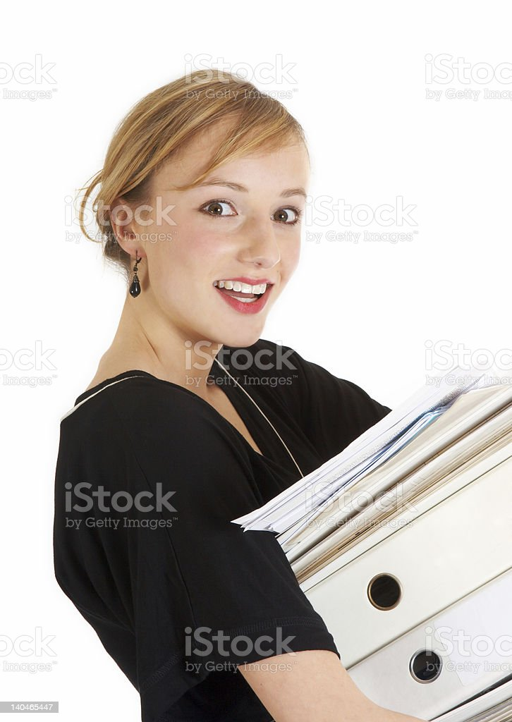 Working with a smile royalty-free stock photo