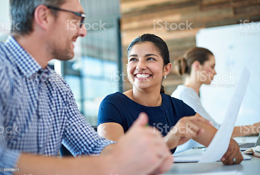 Working with brilliant minds stock photo