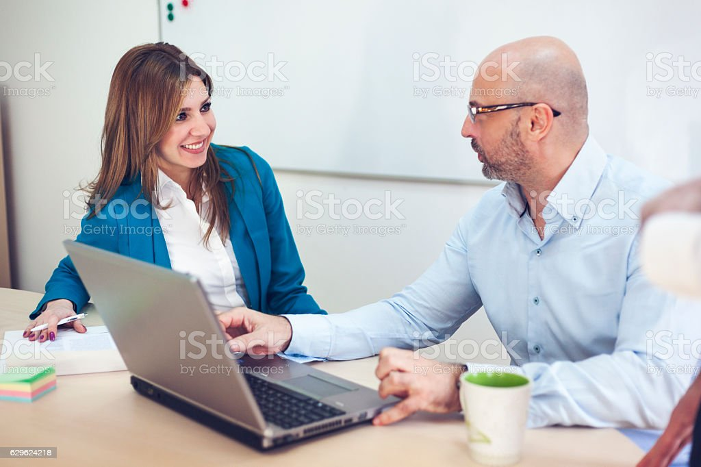 Working with brilliant minds royalty-free stock photo