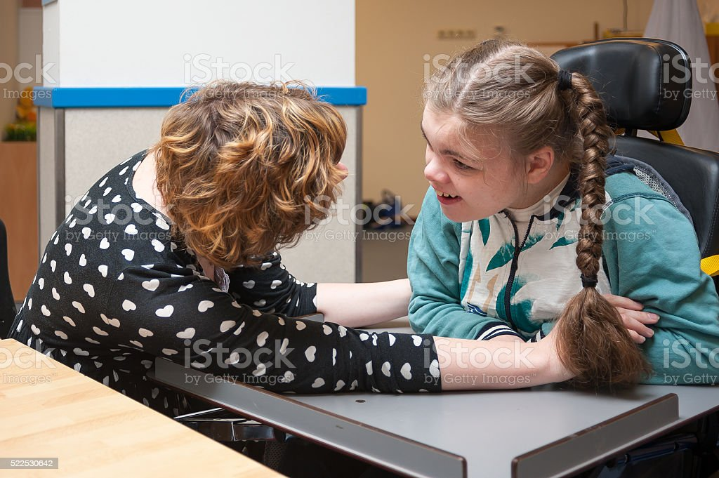 Working with disability stock photo