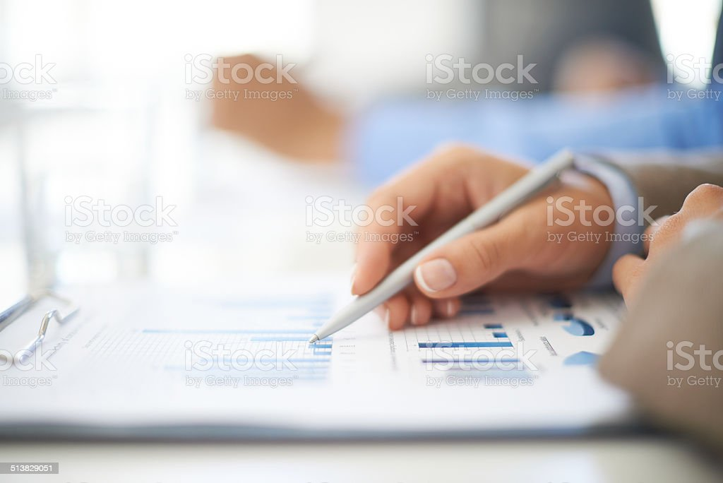 Working with document stock photo
