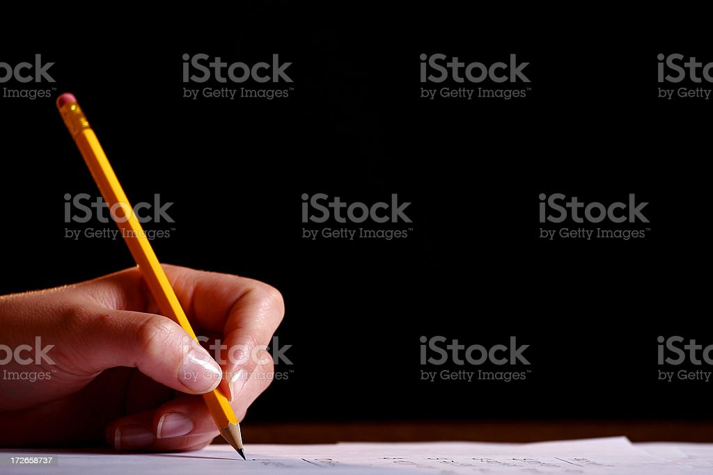 Working with documents royalty-free stock photo