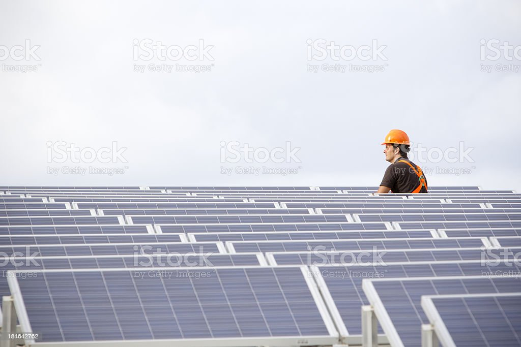 Working with future electricity stock photo