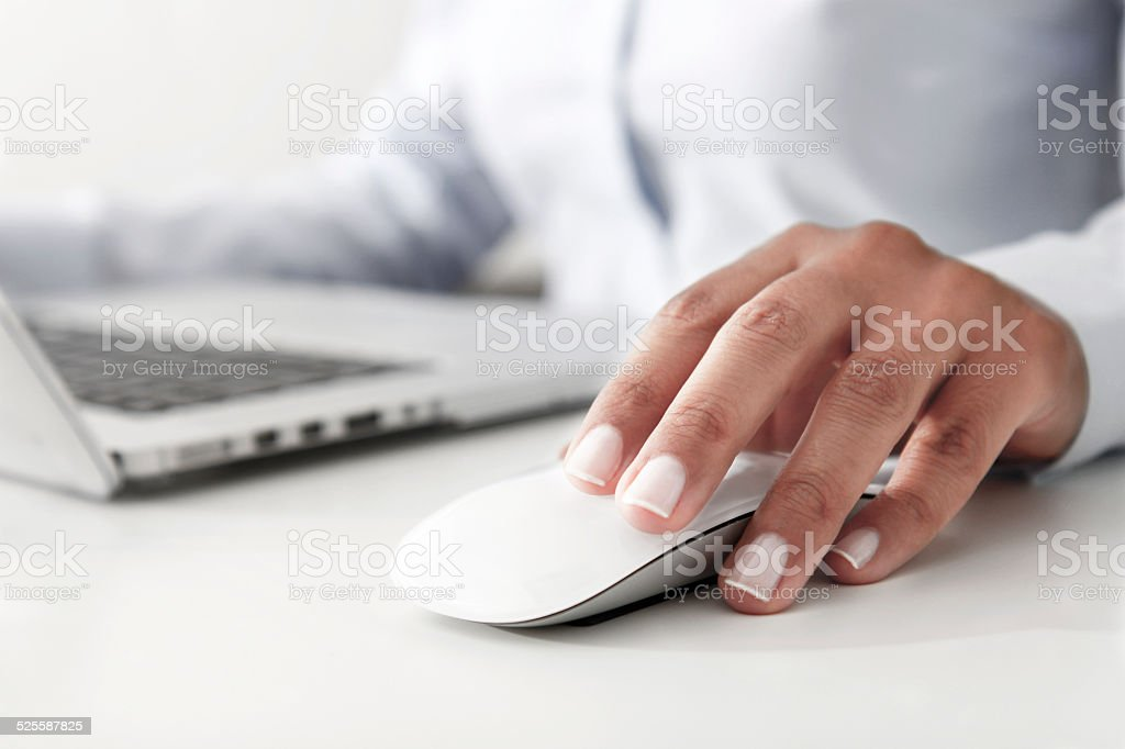Working with Laptop stock photo