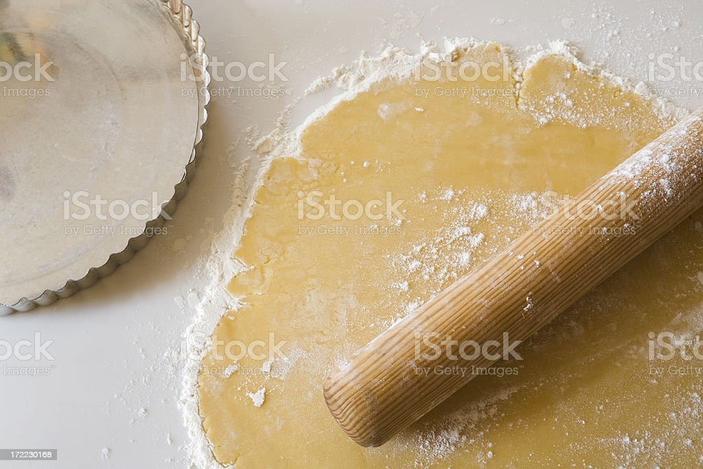 Working with Pie Dough royalty-free stock photo