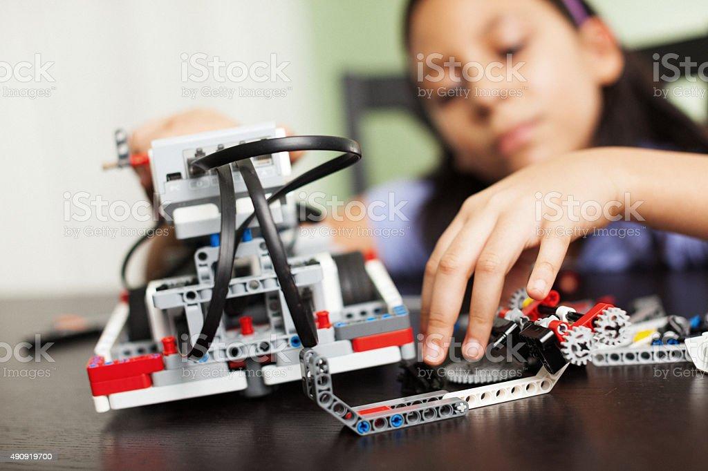 working with robotics stock photo