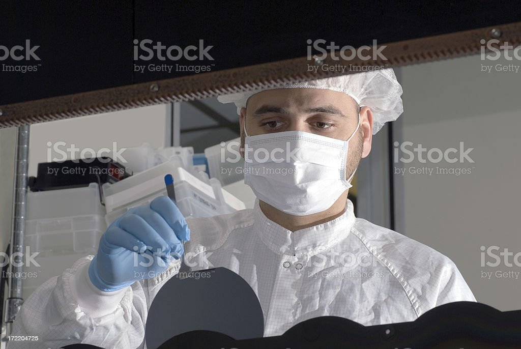 Working with Silicon Wafers - Series stock photo