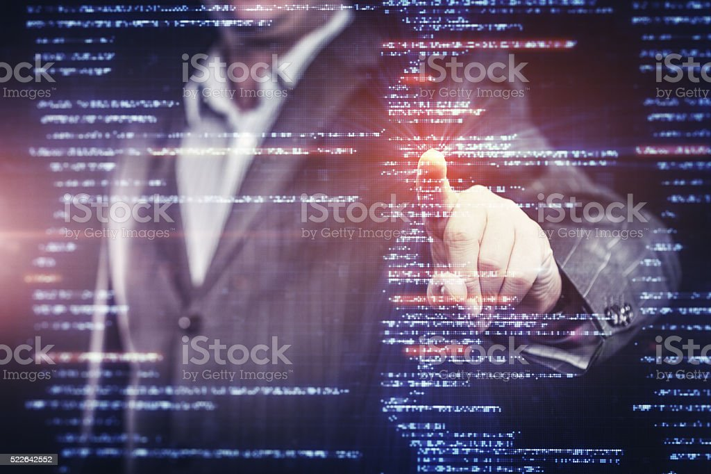 Working With Source Code on Modern Computer stock photo
