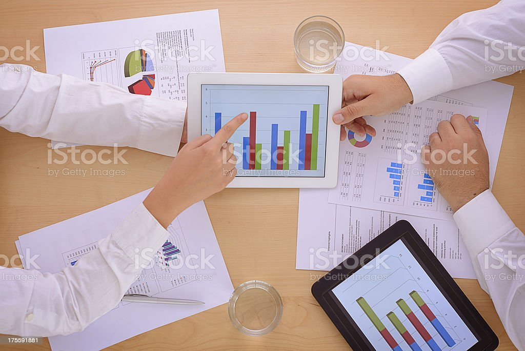 Working with tablet computer royalty-free stock photo