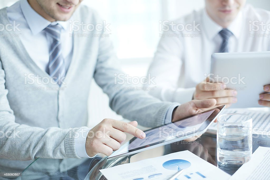 Working with touchpads royalty-free stock photo