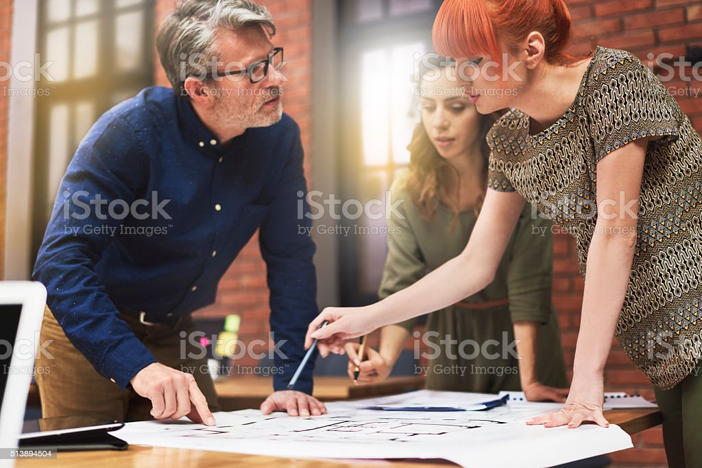 Working with young and creative people stock photo