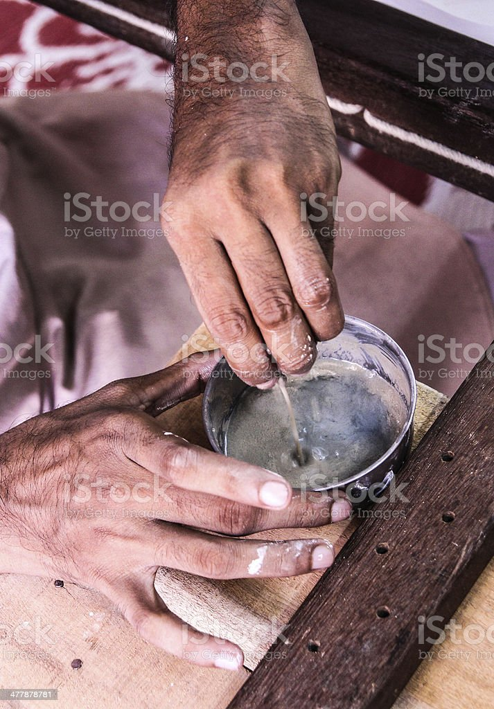 working with your hands royalty-free stock photo