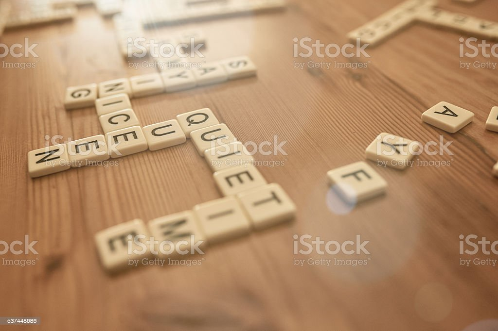 Working words together stock photo