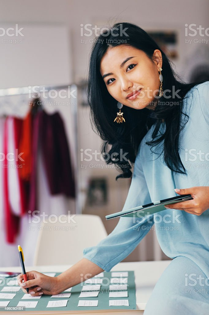 Working young women stock photo