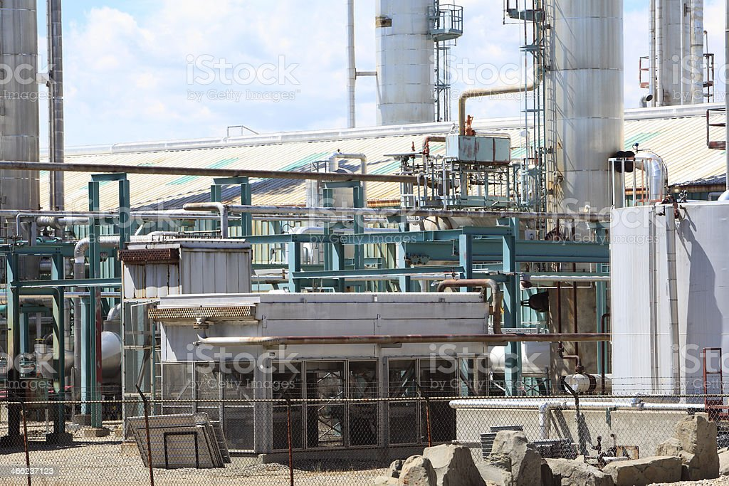Workings Of A Gas Plant Close Up royalty-free stock photo