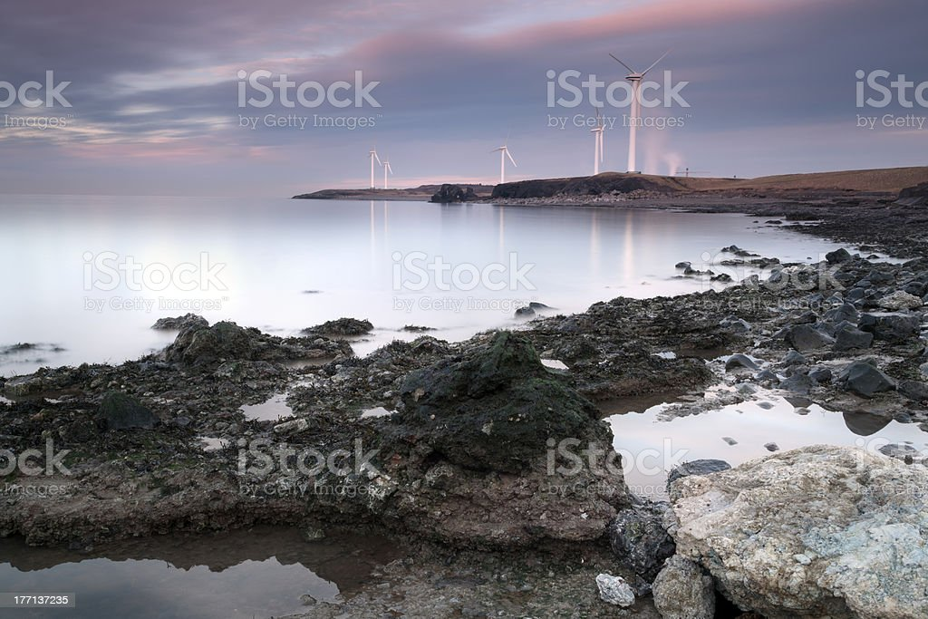Workington Coastline stock photo