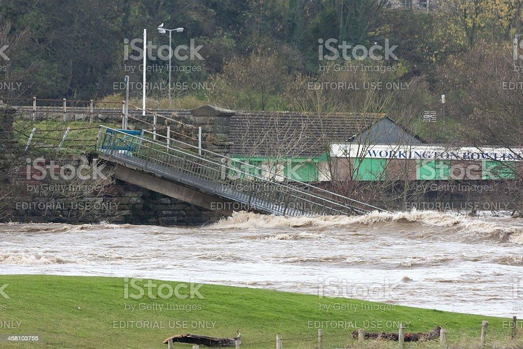Workington River Derwent Flood stock photo