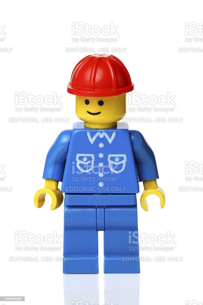 LEGO workman figure royalty-free stock photo