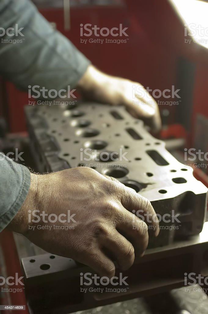 workman on duty royalty-free stock photo