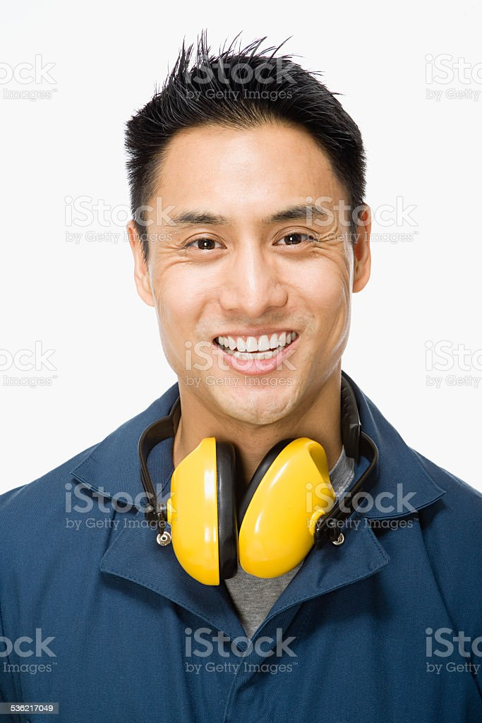 Workman stock photo