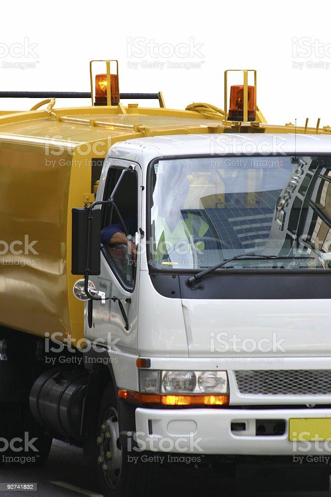 Workmen in utility truck royalty-free stock photo
