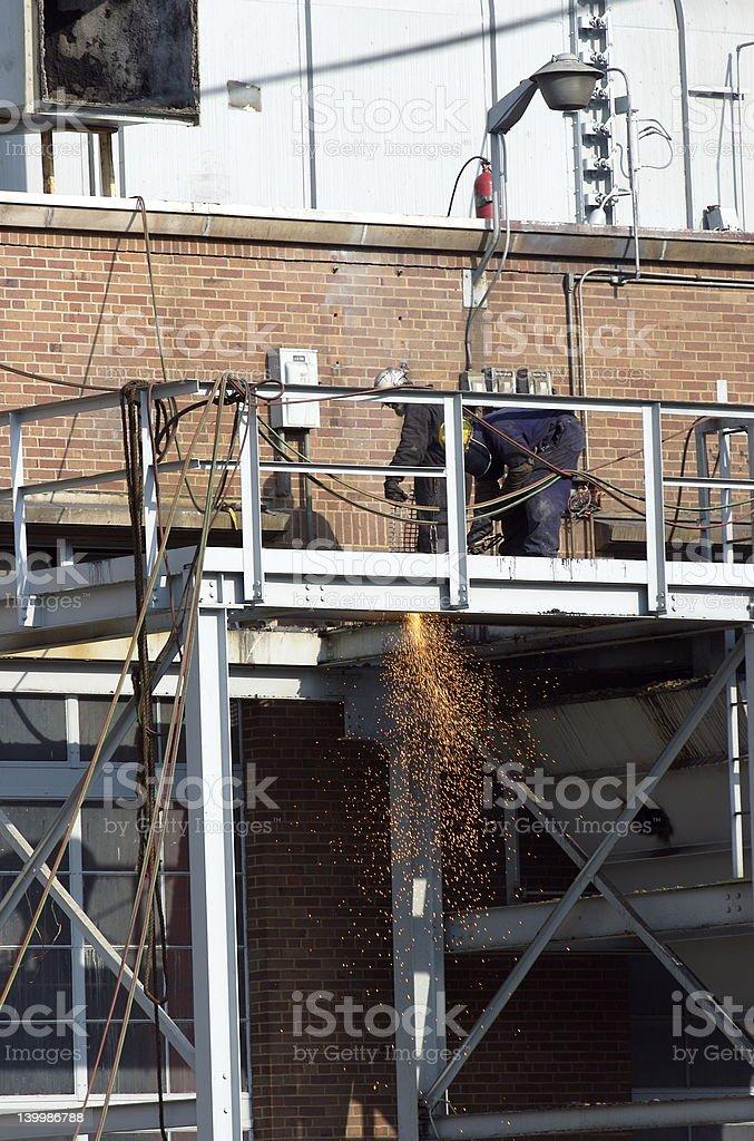 Workmen Welding stock photo