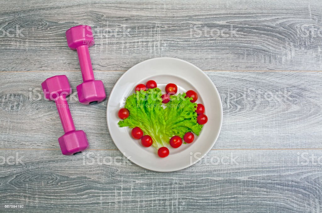 Workout and Eating Healthy stock photo