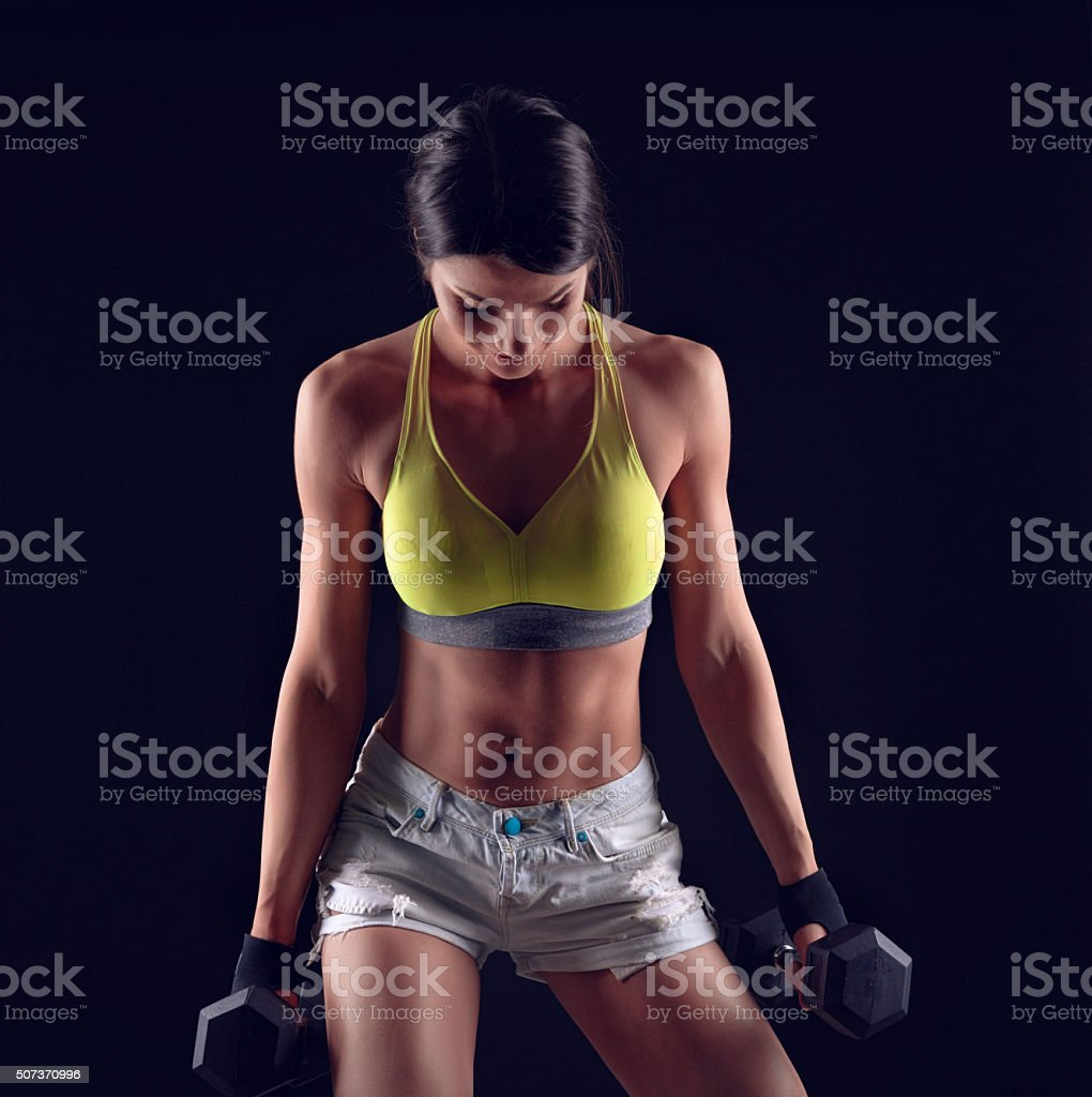 workout and exercise stock photo