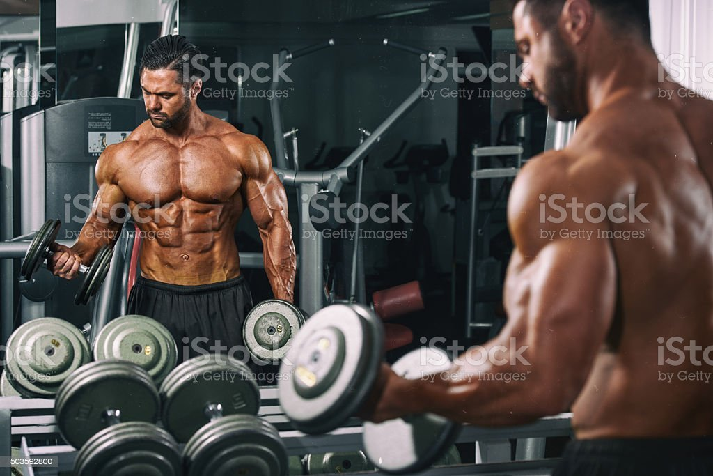 Workout at the Gym stock photo