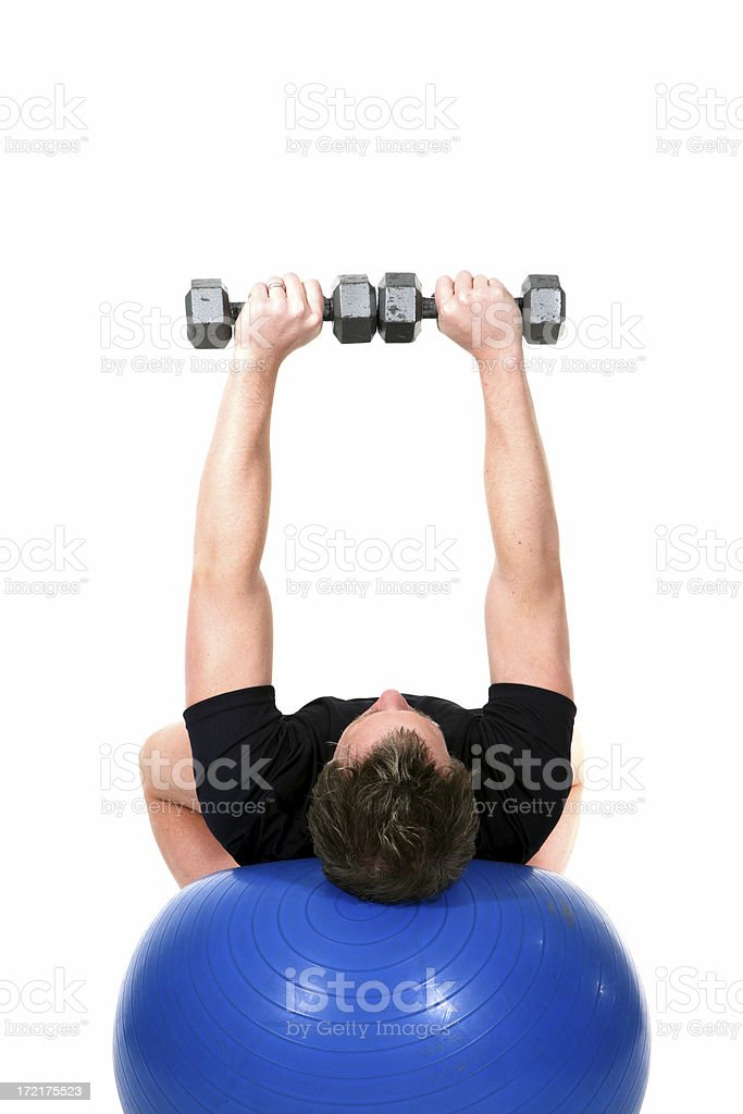 Workout: Bench Dumbbell Training royalty-free stock photo