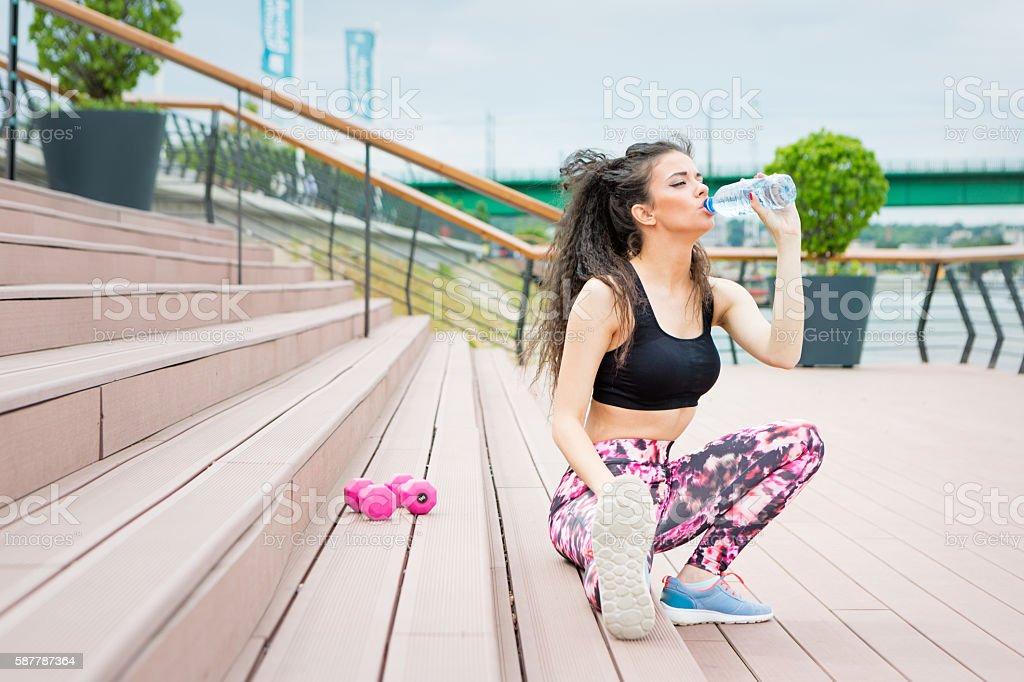 Workout breake stock photo