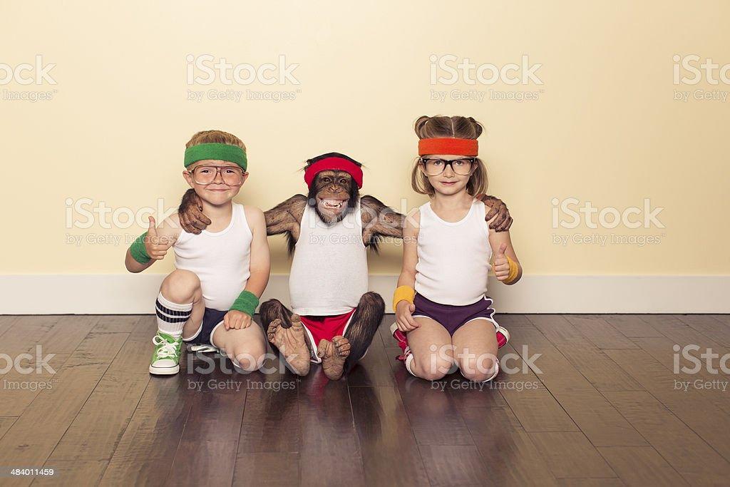 Workout Buddies stock photo