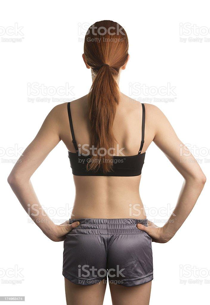 Workout female backside royalty-free stock photo