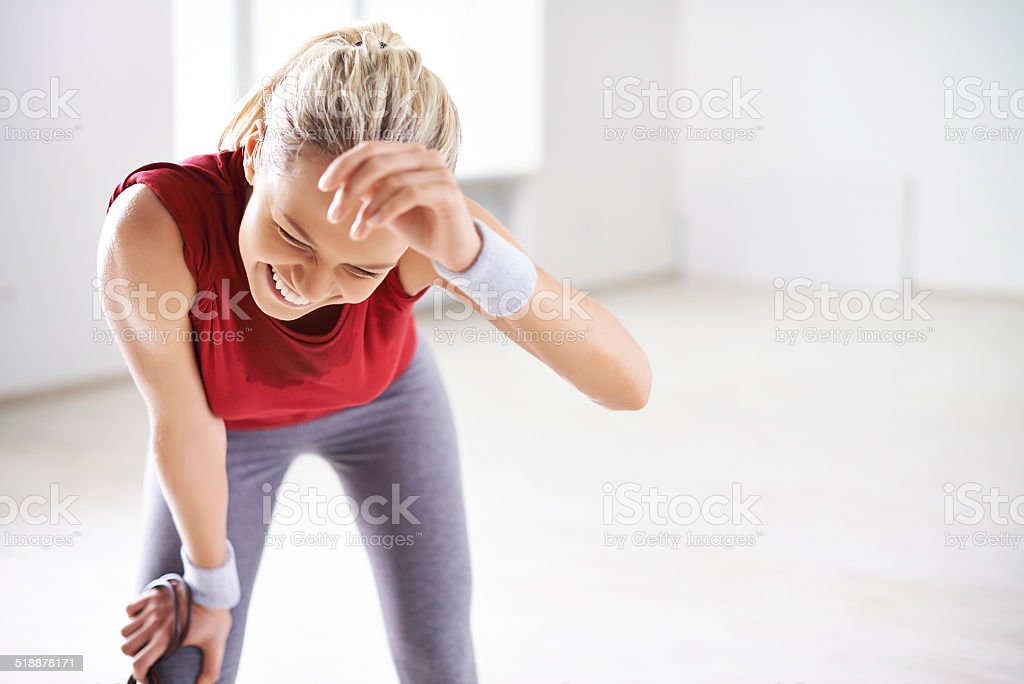 Workout is over stock photo
