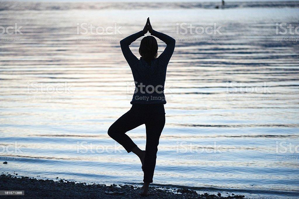 Workout on beach royalty-free stock photo