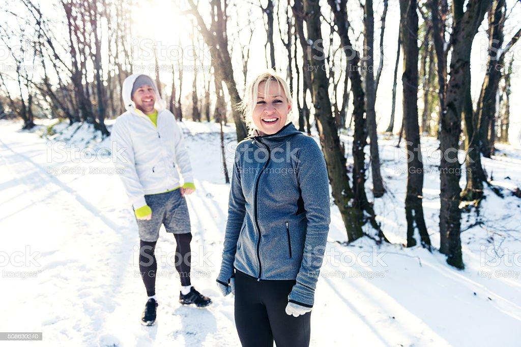 Workout partners stock photo