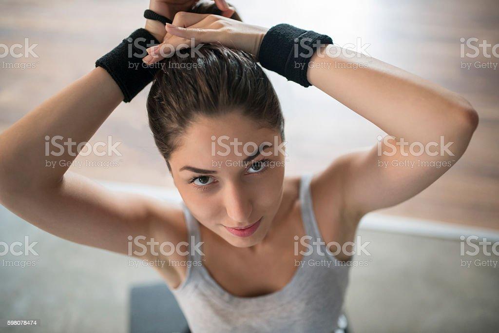 Workout Preparations stock photo