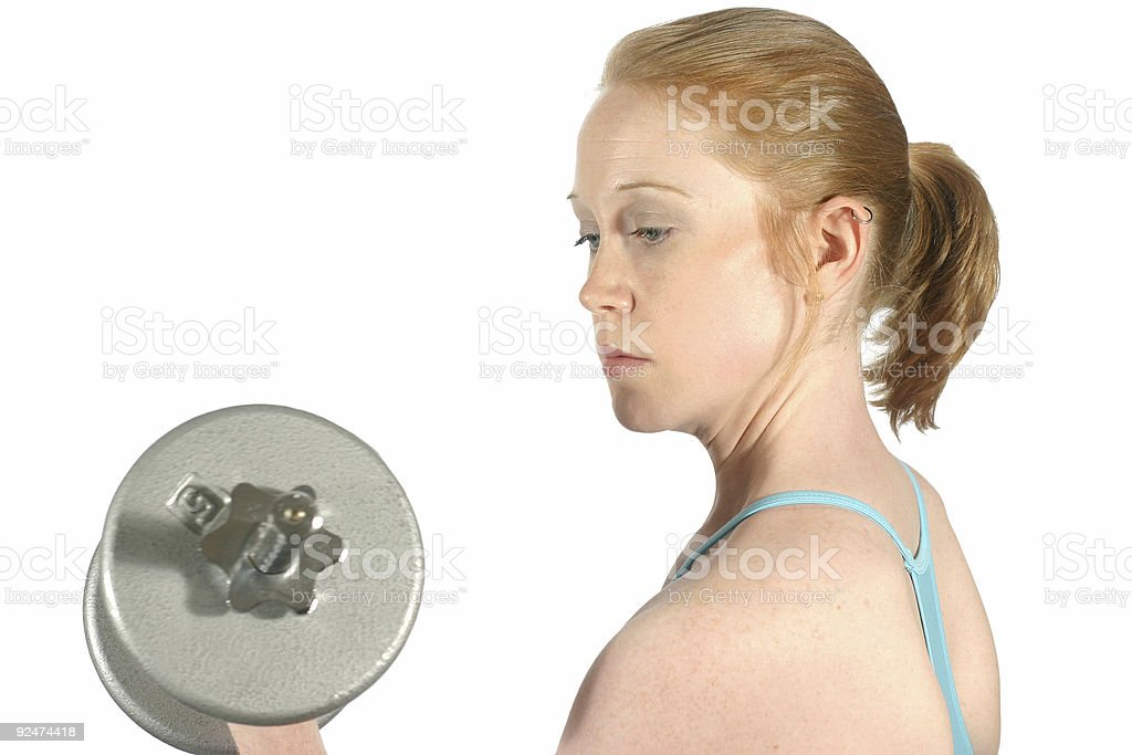 Workout Series: Curls. stock photo