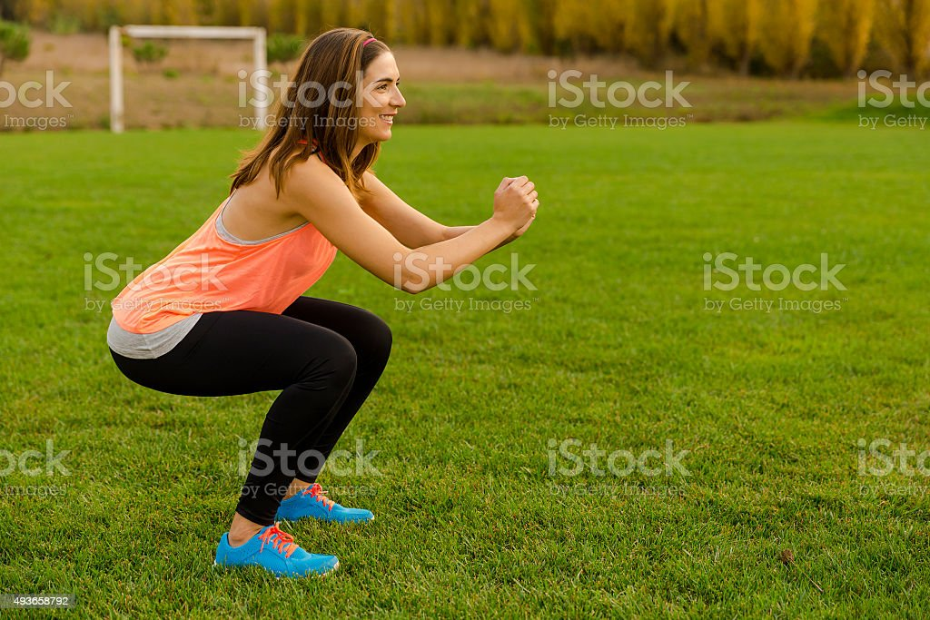 Workout time stock photo