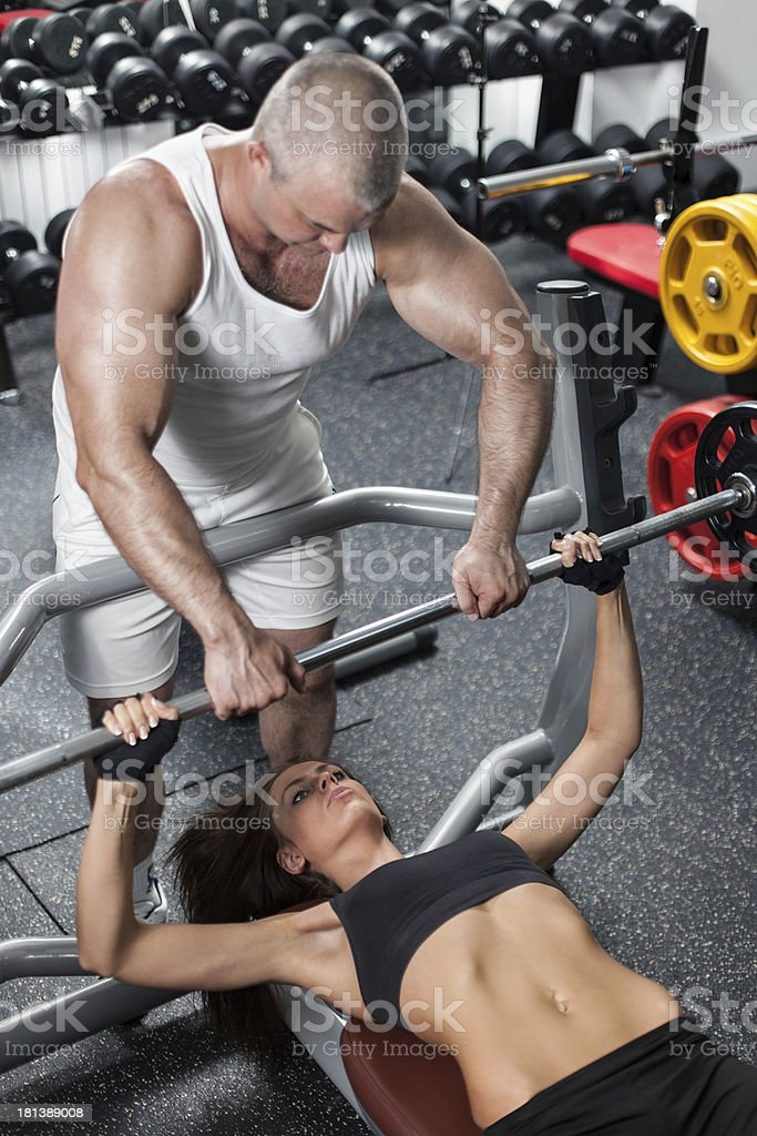 Workout With Personal Trainer royalty-free stock photo