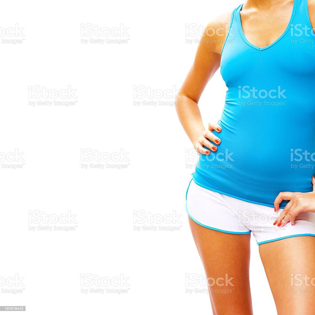 Workout Woman On White royalty-free stock photo