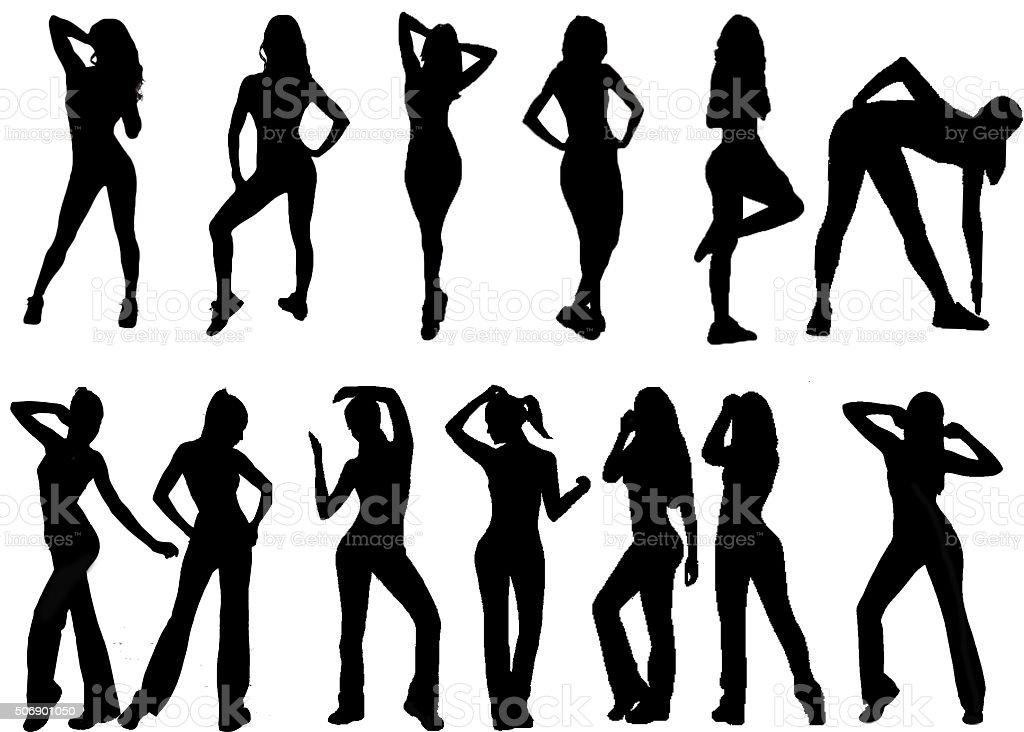 workout women vectors stock photo